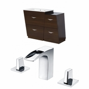 37.75-in. W Floor Mount Wenge Vanity Set For 3H8-in. Drilling