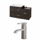 American Imaginations 37.75-in. W Wall Mount Dawn Grey Vanity Set For 1 Hole Drilling