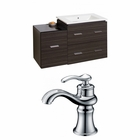 37.75-in. W Wall Mount Dawn Grey Vanity Set For 1 Hole Drilling