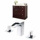 American Imaginations 37.8-in. W Floor Mount Coffee Vanity Set For 3H8-in. Drilling
