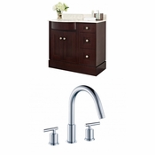 37.8-in. W Floor Mount Coffee Vanity Set For 3H8-in. Drilling