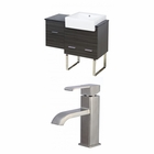 American Imaginations 38-in. W Floor Mount Dawn Grey Vanity Set For 1 Hole Drilling