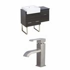38-in. W Floor Mount Dawn Grey Vanity Set For 1 Hole Drilling