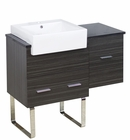 38-in. W Floor Mount Dawn Grey Vanity Set For 1 Hole Drilling Black Galaxy Top