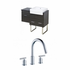 38-in. W Floor Mount Dawn Grey Vanity Set For 3H8-in. Drilling
