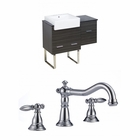 American Imaginations 38-in. W Floor Mount Dawn Grey Vanity Set For 3H8-in. Drilling