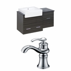 American Imaginations 38-in. W Wall Mount Dawn Grey Vanity Set For 1 Hole Drilling