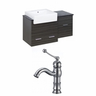 38-in. W Wall Mount Dawn Grey Vanity Set For 1 Hole Drilling