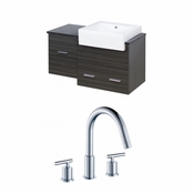 38-in. W Wall Mount Dawn Grey Vanity Set For 3H8-in. Drilling
