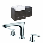 American Imaginations 38-in. W Wall Mount Dawn Grey Vanity Set For 3H8-in. Drilling