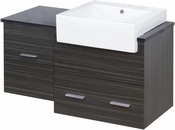 38-in. W Wall Mount Dawn Grey Vanity Set For 3H8-in. Drilling Black Galaxy Top
