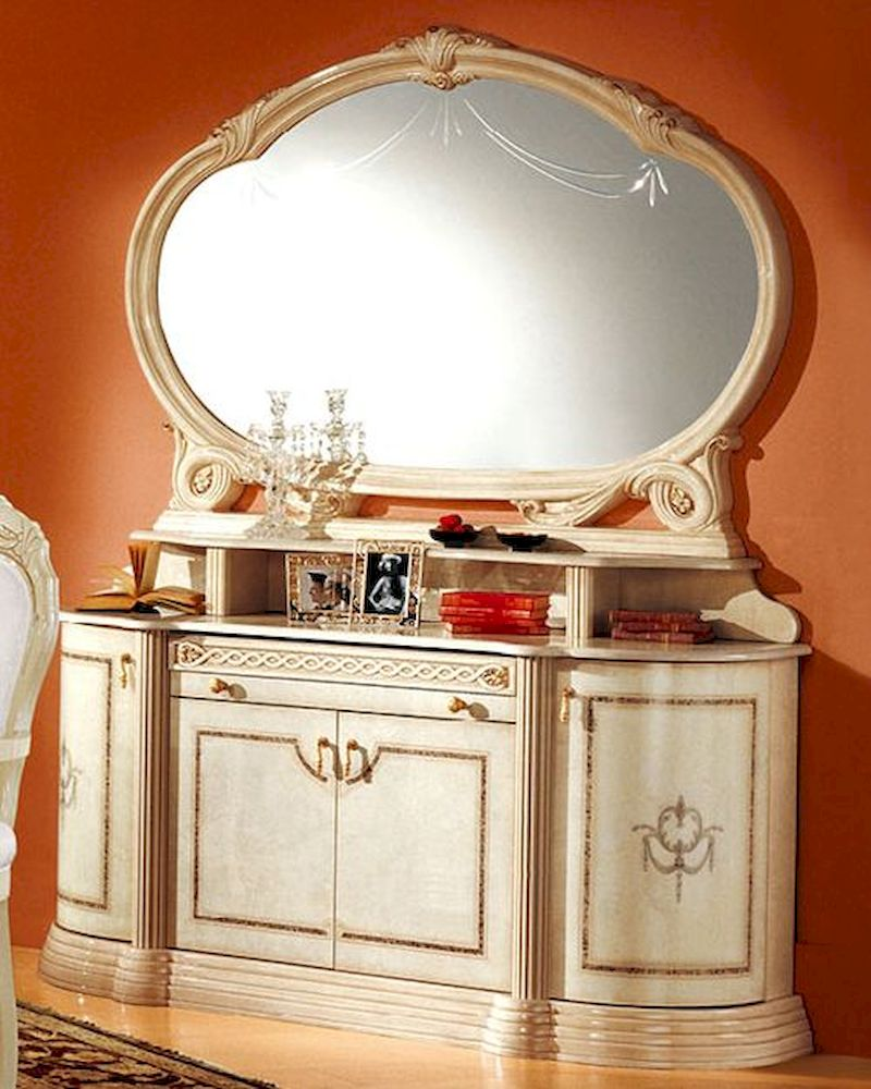 4 door buffet and mirror romana european design made in for Design made in italy