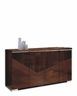 4 Door Buffet in High Gloss Walnut Finish 33D66