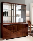 4 Door China Cabinet in High Gloss Walnut Finish 33D68