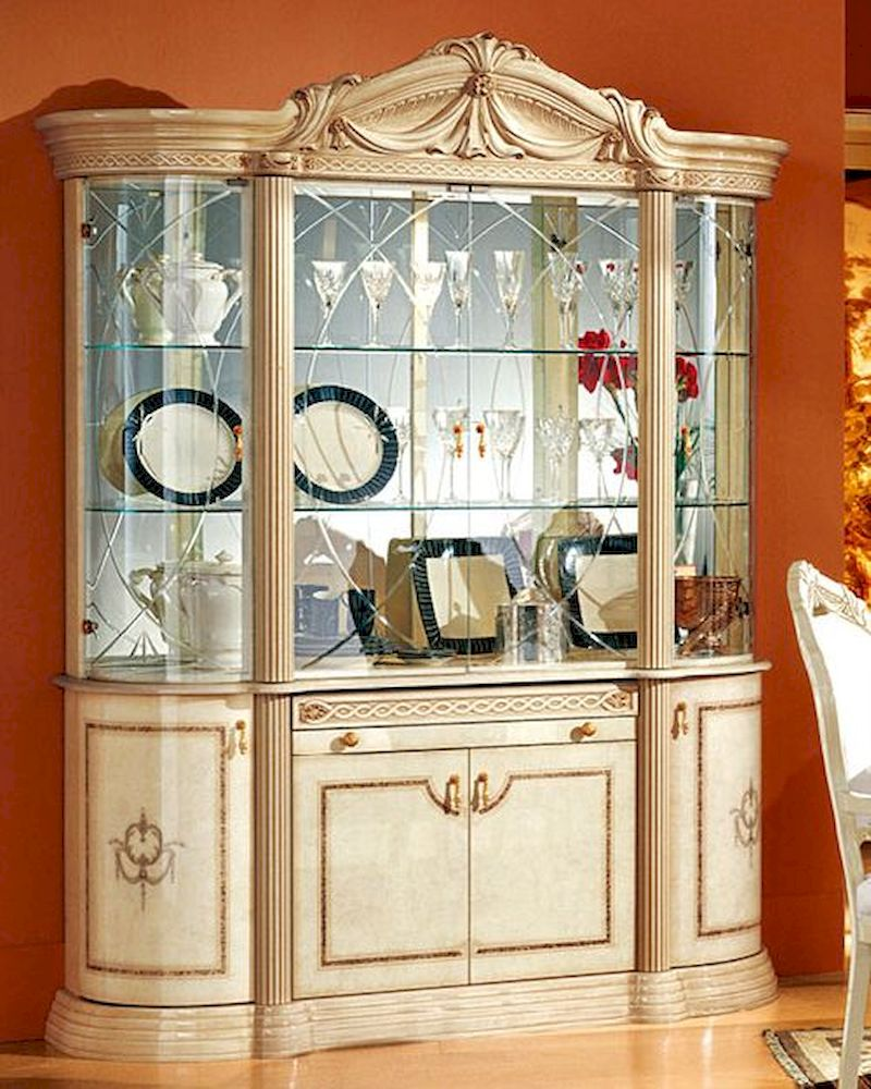 4 door china cabinet romana european design made in italy for Design made in italy