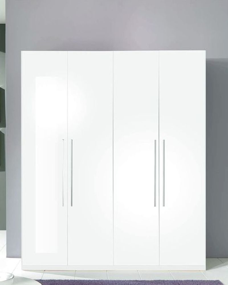 4 door wardrobe blanca in white modern style made in italy 33b398 - Modern Wardrobe