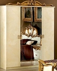 4 Door Wardrobe Gold Baroque Classic Style Made in Italy 33B4210