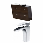 American Imaginations 40.5-in. W Floor Mount Wenge Vanity Set For 1 Hole Drilling