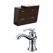 40.5-in. W Floor Mount Wenge Vanity Set For 1 Hole Drilling
