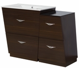 American Imaginations 40.5-in. W Floor Mount Wenge Vanity Set For 3H4-in. Drilling