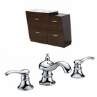 40.5-in. W Floor Mount Wenge Vanity Set For 3H8-in. Drilling
