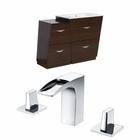 American Imaginations 40.5-in. W Floor Mount Wenge Vanity Set For 3H8-in. Drilling