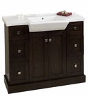 40-in. W Floor Mount Walnut Vanity Set For 1 Hole Drilling
