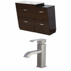 American Imaginations 43.25-in. W Floor Mount Wenge Vanity Set For 1 Hole Drilling
