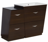 American Imaginations 43.25-in. W Floor Mount Wenge Vanity Set For 3H4-in. Drilling