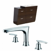 43.25-in. W Floor Mount Wenge Vanity Set For 3H8-in. Drilling