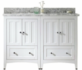 47.5-in. W Floor Mount White Vanity Set For 3H4-in. Drilling Bianca Carara Top White UM Sink