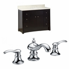 American Imaginations 47.6-in. W Floor Mount Distressed Antique Walnut Vanity Set For 3H8-in. Drilling