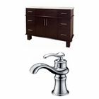 48-in. W Floor Mount Antique Cherry Vanity Set For 1 Hole Drilling