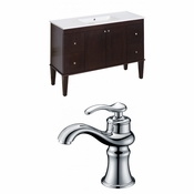 48-in. W Floor Mount Antique Walnut Vanity Set For 1 Hole Drilling