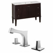 48-in. W Floor Mount Antique Walnut Vanity Set For 3H8-in. Drilling