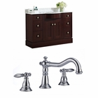American Imaginations 48-in. W Floor Mount Coffee Vanity Set For 3H8-in. Drilling