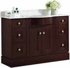 American Imaginations 48-in. W Floor Mount Coffee Vanity Set For 3H8-in. Drilling Bianca Carara Top Biscuit UM Sink