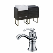 48-in. W Floor Mount Dawn Grey Vanity Set For 1 Hole Drilling