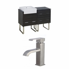 American Imaginations 48-in. W Floor Mount Dawn Grey Vanity Set For 1 Hole Drilling
