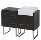 48-in. W Floor Mount Dawn Grey Vanity Set For 1 Hole Drilling Black Galaxy Top