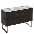 American Imaginations 48-in. W Floor Mount Dawn Grey Vanity Set For 3H4-in. Drilling