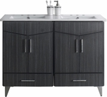 48-in. W Floor Mount Dawn Grey Vanity Set For 3H4-in. Drilling
