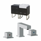 48-in. W Floor Mount Dawn Grey Vanity Set For 3H8-in. Drilling