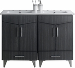 American Imaginations 48-in. W Floor Mount Dawn Grey Vanity Set For 3H8-in. Drilling