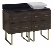 48-in. W Floor Mount Dawn Grey Vanity Set For Deck Mount Drilling Black Galaxy Top