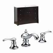 48-in. W Floor Mount Distressed Antique Walnut Vanity Set For 3H8-in. Drilling
