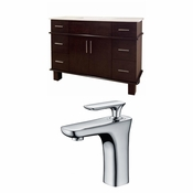 48-in. W Floor Mount Walnut Vanity Set For 1 Hole Drilling