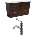 48-in. W Floor Mount Wenge Vanity Set For 1 Hole Drilling