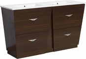 American Imaginations 48-in. W Floor Mount Wenge Vanity Set For 3H4-in. Drilling