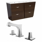 American Imaginations 48-in. W Floor Mount Wenge Vanity Set For 3H8-in. Drilling